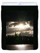 Piprell Lake Saskatchewan Duvet Cover
