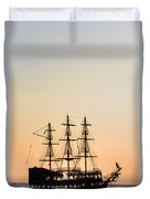 Pirate Boat Duvet Cover