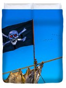 Pirate Flag And Moon Duvet Cover