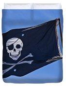 Pirate Flag Skull And Cross Bones Duvet Cover