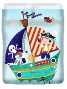 Pirate Of The Carribean Duvet Cover