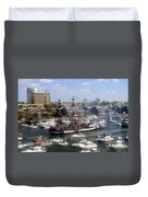 Pirate Ship And Flotilla Duvet Cover
