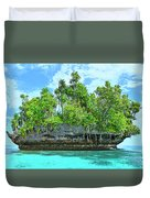 Pirate Ship Cay Duvet Cover