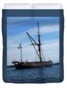 Pirate Ship  Duvet Cover