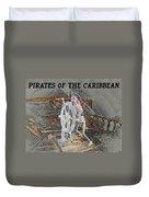 Pirates Skeleton Duvet Cover by David Lee Thompson