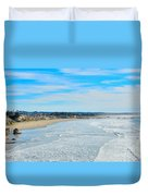 Pismo Beach Pier Duvet Cover