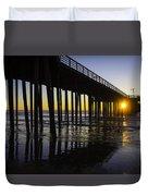 Pismo Sunset Wharf Duvet Cover