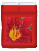 Pistil, The Female Reproductive Part Of A Flower Duvet Cover