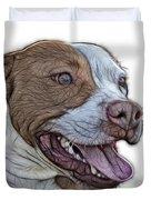 Pit Bull Fractal Pop Art - 7773 - F - Wb Duvet Cover