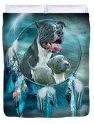 Pit Bulls - Rez Dog Duvet Cover