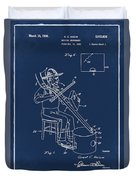 Pitch Fork Fiddle And Drum Patent 1936 - Blue Duvet Cover