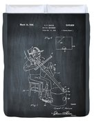 Pitch Fork Fiddle And Drum Patent 1936 - Chalk Duvet Cover