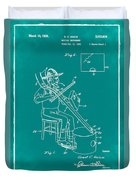 Pitch Fork Fiddle And Drum Patent 1936 - Green Duvet Cover