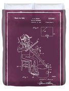 Pitch Fork Fiddle And Drum Patent 1936 - Red Duvet Cover