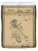 Pitch Fork Fiddle And Drum Patent 1936 - Sepia Duvet Cover