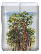 Pitch Pines, Cape Cod Duvet Cover