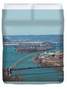 Pittsburg City Skyline Duvet Cover