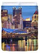 Pittsburgh 2 Duvet Cover by Emmanuel Panagiotakis