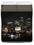 Pittsburgh At Night Duvet Cover