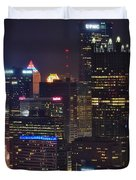 Pittsburgh Close Up From Above Duvet Cover