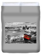 Pittsburgh From The Incline Duvet Cover
