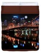Pittsburgh Full Moon Duvet Cover