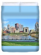 Pittsburgh Pa Panoramic Duvet Cover