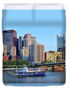 Pittsburgh River Cruise  Duvet Cover