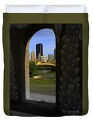 Pittsburgh Skyline, North Shore Arch, Pittsburgh, Pa  Duvet Cover