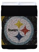Pittsburgh Steelers  Bottle Cap Mosaic Duvet Cover