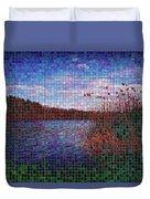 Pixel Lake Duvet Cover