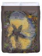 Pixel Pansy Duvet Cover
