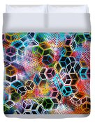 Pixelated Cubes Duvet Cover