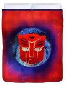 Pixeled Autobot Duvet Cover