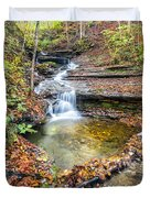 Pixley Falls State Park Lesser Falls Duvet Cover