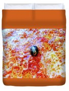 Pizza Pie With Olive Duvet Cover