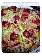 Pizzas Here Duvet Cover