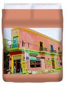 Pizzeria In La Boca Area Of Buenos Aires-argentina  Duvet Cover