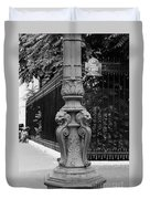 Place Charles De Gaulle - Black And White Duvet Cover