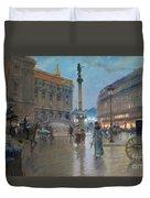 Place De L Opera In Paris Duvet Cover