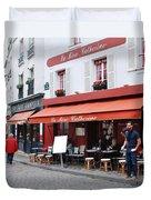 Place Du Tertre In Paris Duvet Cover