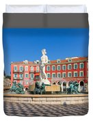 Place Massena Of Nice In France Duvet Cover