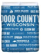 Places Of Door County On Blue Duvet Cover