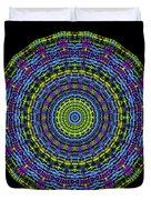 Plaid Wheel Mandala Duvet Cover