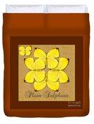 Plain Sulphur Butterfly Wheel Duvet Cover