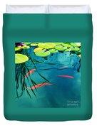 Plaisir Aquatique Duvet Cover