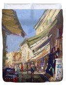 Plaka Athens Greece Duvet Cover