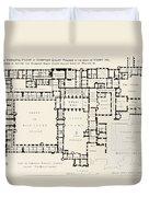Plan Of Principal Floor Of Hampton Duvet Cover
