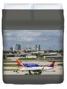 Planes By Fort Lauderdale Duvet Cover