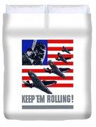 Planes -- Keep 'em Rolling Duvet Cover